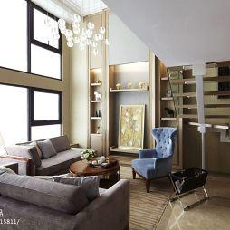 公寓现代客厅落地窗装修效果图
