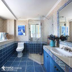 厦门联发杏林湾一号地中海风格样板房卫生间淋浴房效果图