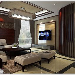 中式客厅棚顶装修效果图