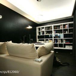 温州安澜小区住宅设计现代时尚书房休闲沙发装修效果图
