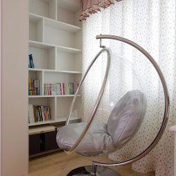 湖滨雅园混搭卧室休闲椅装修效果图
