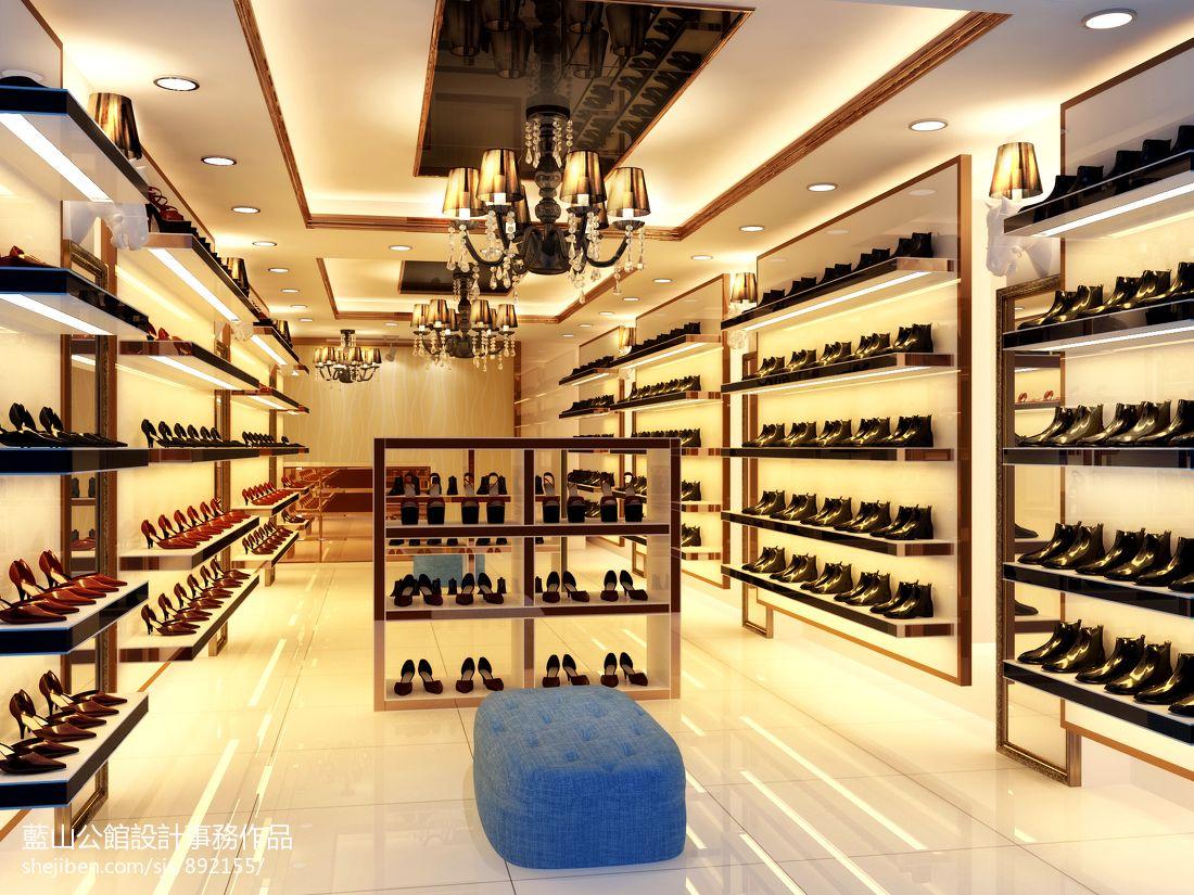 个性鞋店展示架装修效果图