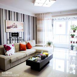 现代风格客厅窗帘效果图片