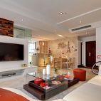 时尚现代风格客厅电视墙效果图