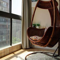 现代阳台吊椅效果图