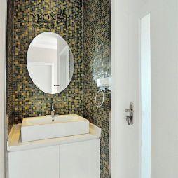 现代卫浴绿色马赛克瓷砖装修图片