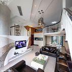 现代风格复式客厅装修效果图