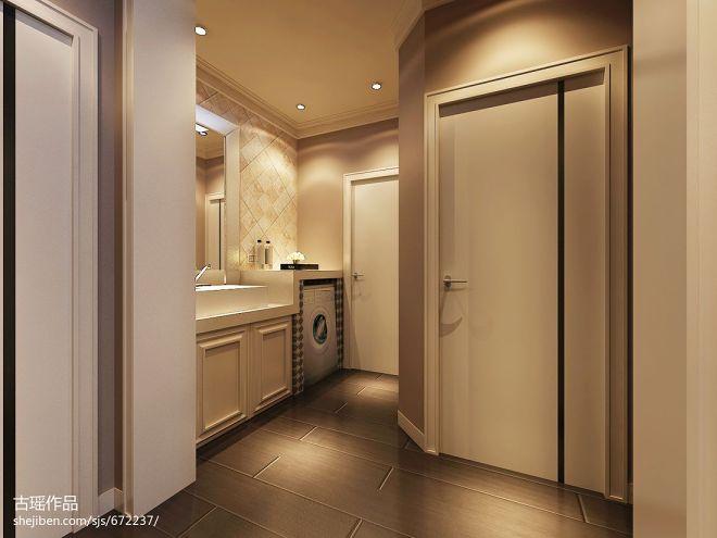 现代中式卫生间玄关装修设计效果图