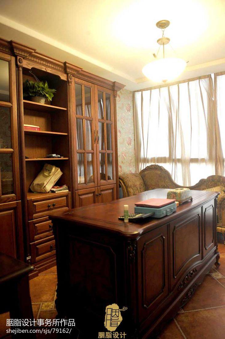 卫生间实景_196平米美式复式楼书房装修效果图大全 – 设计本装修效果图