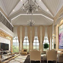 现代清新欧式风格客厅吊顶设计