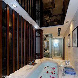 混搭卧室浴池装修