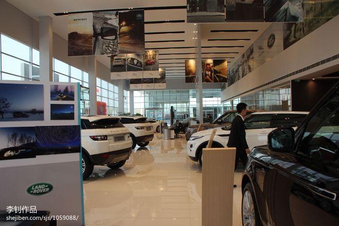 现代风格车行展厅室内吊旗设计效果图