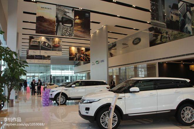 现代风格车行展厅隔断设计效果图