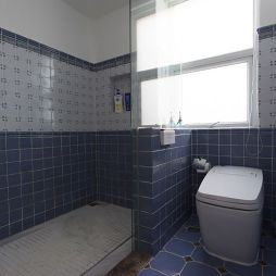 混搭风格室内卫生间隔断图片