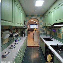 地中海婚房厨房吊顶装修图