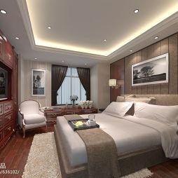 欧式卧室背景墙挂画装修效果图