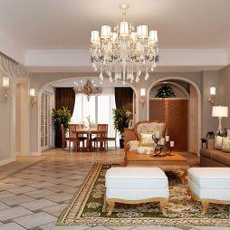 180平方米5房混搭客厅装修效果图