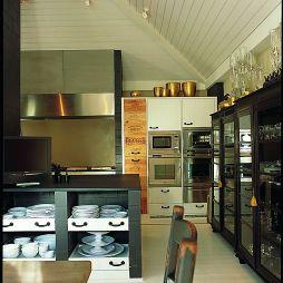 混搭风格别墅厨房吊顶装修