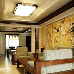 中式风 客厅吊顶装修效果图