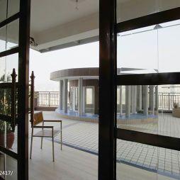 欧式三居室家装阳台装修效果图大全