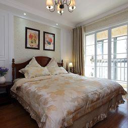 休闲美式小户型卧室窗户装修图