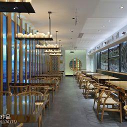 中式风格中餐厅过道吊顶装修图片
