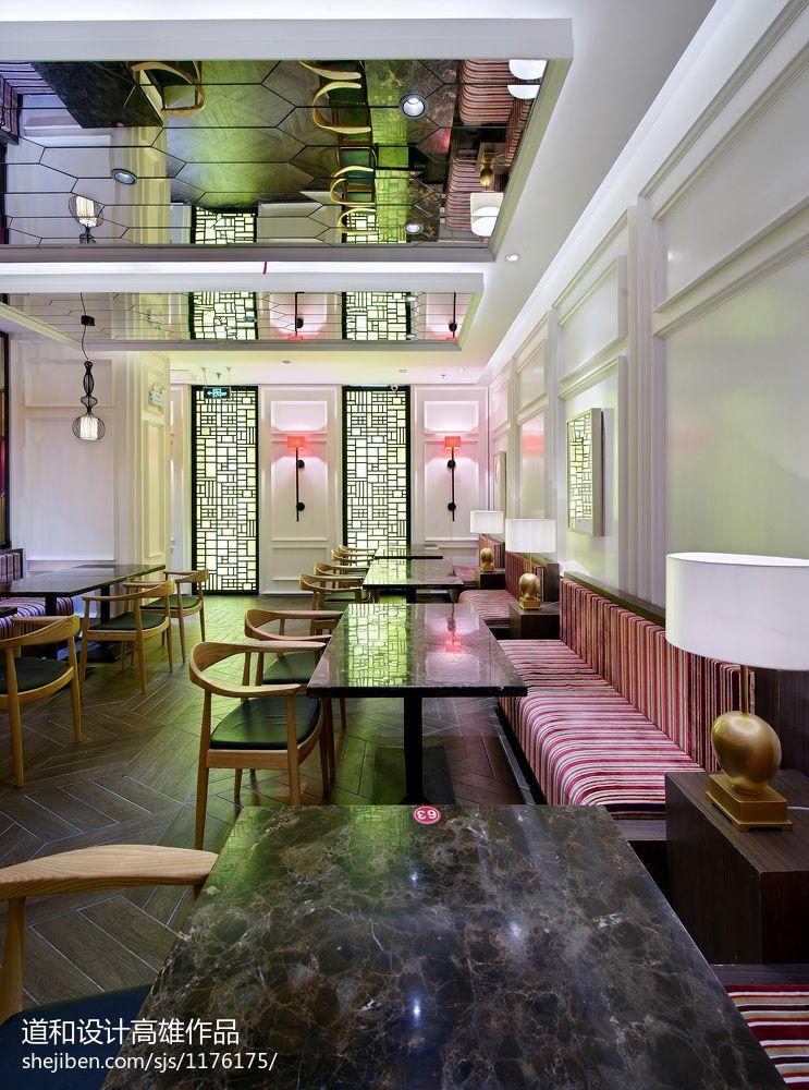娱乐资讯_中式风格茶餐厅卡座装修设计 – 设计本装修效果图
