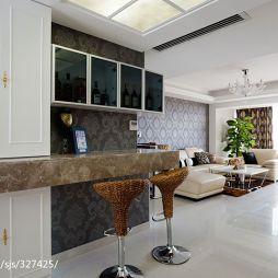 四房中式家装吧台效果图