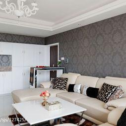 四房中式家装客厅背景墙装修