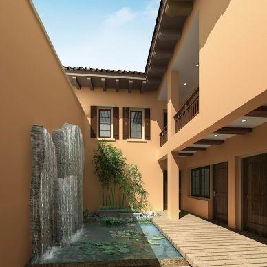 新古典农村两层房屋设计图大全