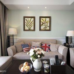 美式最新客厅装修效果图