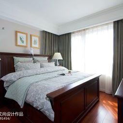 美式室内设计卧室窗帘装修效果图大全