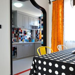 地中海厨房马赛克装修设计效果图