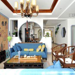中式客厅整体装修效果图