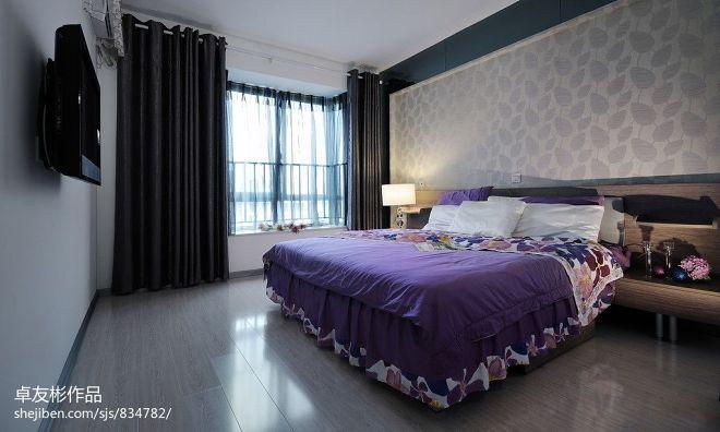 丽岛_现代卧室时尚床头背景墙装修设计