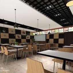 快餐店简单桌椅效果图