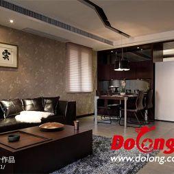 中式风格 客厅背景墙效果图