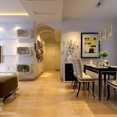 三居室现代风格过道吊顶图片
