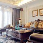 欧式风格家装客厅窗帘图片