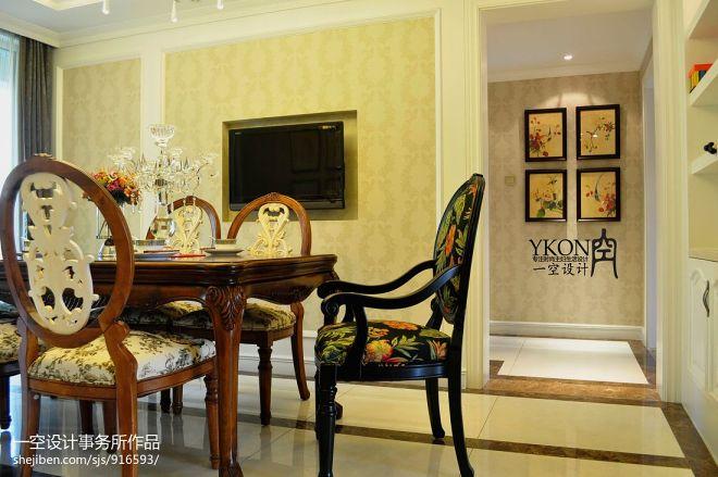 欧式风格家装餐厅背景墙装修效果图