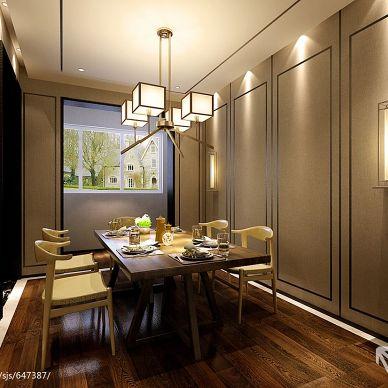 东方神韵的传承_现代小餐厅简单吊顶装修设计效果图