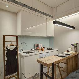 臺北松山八德路翔譽101實品屋_现代厨房吧台装修设计效果图