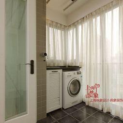 美式小清新阳台洗衣房装修效果图