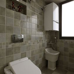 美式小清新卫生间瓷砖效果图