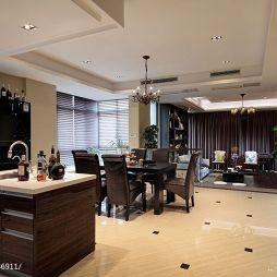 新中式敞开式厨房厨房餐厅装修图片