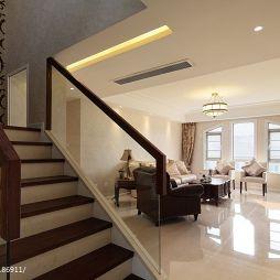 欧式风格复式楼楼梯扶手装修图片