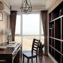 中式简约气质小空间书房书柜设计