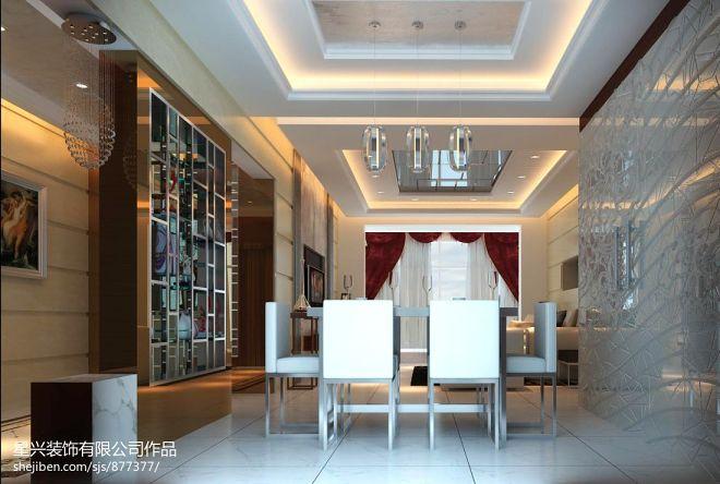 广东凤凰城_现代餐厅酒柜装修设计效果