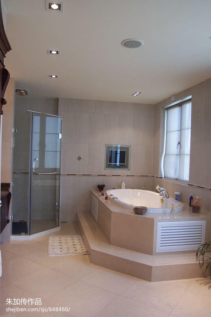 衣帽间门设计效果图_欧式卫浴瓷砖淋浴房浴缸装修设计效果图 – 设计本装修效果图