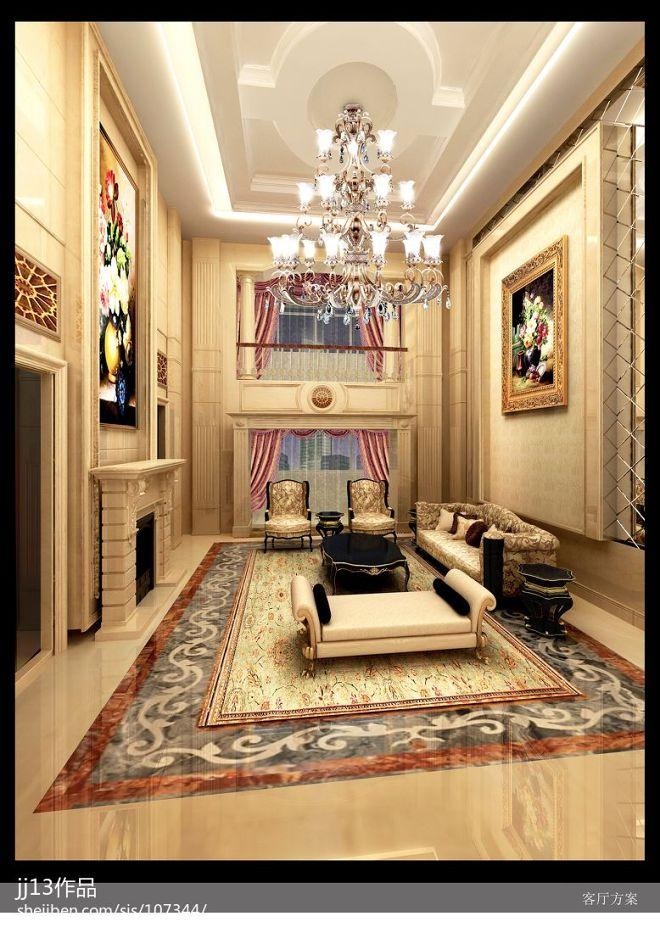 家装欧式卧室奢华吊顶吊灯装修设计效果
